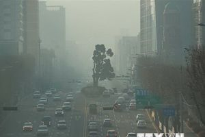 Bụi mịn tiếp tục bao phủ Hàn Quốc, thủ đô Seoul ngột ngạt