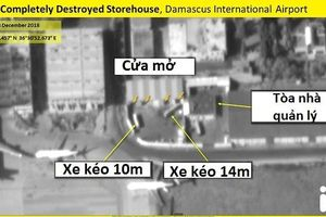 Ảnh vệ tinh hé lộ tổn thất nặng nề của Syria sau khi bị Israel không kích