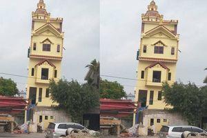 Hà Nam: Nhà 5 tầng mới xây xong đã bị nghiêng 1 mét, chủ nhân không dám ở