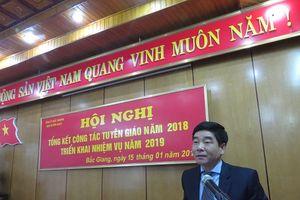 Bắc Giang tổng kết công tác tuyên giáo năm 2018