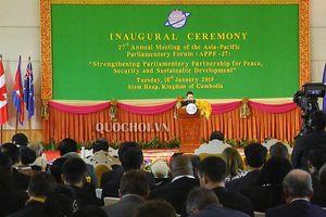 Phát biểu của Chủ tịch Quốc hội Nguyễn Thị Kim Ngân tại phiên khai mạc appf-27