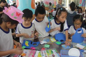 Khuyến khích HS sử dụng đồ tái chế trong ngày hội trải nghiệm sáng tạo
