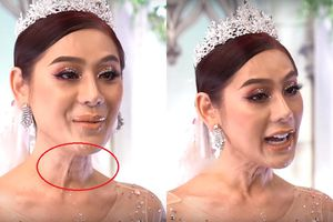Tô trát cả chục kg phấn son nhưng Lâm Khánh Chi vẫn trông như U60 vì da cổ bị lão hóa