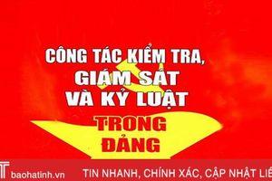 Thông cáo báo chí của BTV Tỉnh ủy Hà Tĩnh về thi hành kỷ luật Đảng