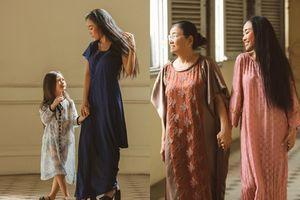 Khoảnh khắc 3 thế hệ phụ nữ gia đình ca sĩ Đoan Trang làm mẫu ảnh dịp năm mới 2019