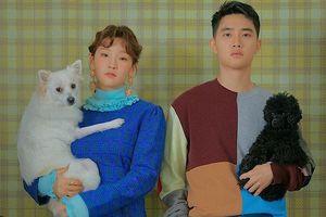 Ảnh tạp chí đẹp khó tả của D.O.(EXO) - Park So Dam cùng những chú chó đáng yêu