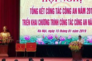 CATP Hà Nội vinh dự được Chính phủ trao tặng 'Cờ đơn vị dẫn đầu phong trào thi đua' năm 2018