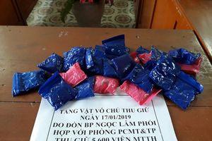 Đối tượng vứt 5.600 viên ma túy tổng hợp rồi bỏ chạy vào rừng ở Nghệ An