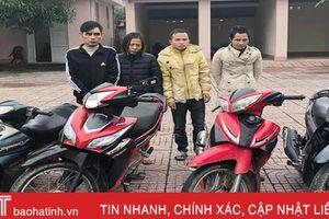 4 con nghiện gây ra 15 vụ trộm xe máy liên tỉnh Nghệ An - Hà Tĩnh