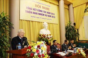 Tổng Bí thư, Chủ tịch nước Nguyễn Phú Trọng: Văn phòng phải 'đúng vai, thuộc bài'