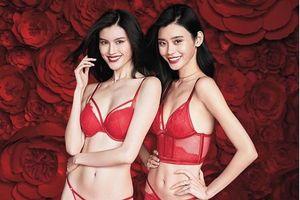 Siêu mẫu Ming Xi, Sui He nóng bỏng trong nội y đỏ rực đón Tết