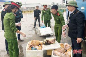 Hà Tĩnh: Bắt quả tang xe khách vận chuyển 100kg da động vật không rõ nguồn gốc