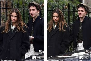 Con trai David Beckham phong độ, tình tứ đi ăn trưa cùng bạn gái mới
