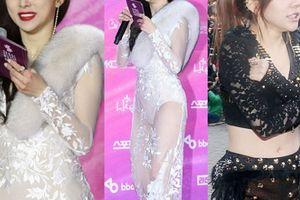 Sao Hàn co rúm vì mặc trang phục mát mẻ giữa trời âm độ C