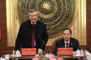 Đoàn công tác Ban Chỉ đạo T.Ư về phòng, chống tham nhũng làm việc tại Thanh Hóa, Tổng Liên đoàn Lao động Việt Nam