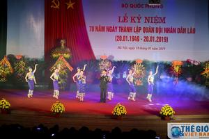 Kỷ niệm 70 năm Ngày thành lập Quân đội nhân dân Lào tại Hà Nội