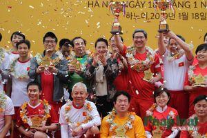 Lần đầu tiên, các nhà lập pháp 2 nước Việt Nam - Hàn Quốc giao hữu bóng đá