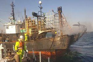 Cháy tàu cá ở Hàn Quốc, một thuyền viên Việt Nam tử nạn