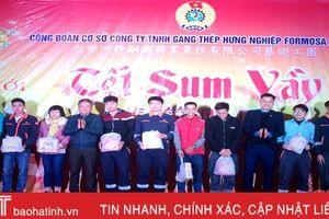 Công đoàn Formosa Hà Tĩnh tặng 100 suất quà, 125 vé xe tết cho công nhân, lao động