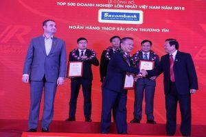 Sacombank lọt top 50 doanh nghiệp lớn nhất Việt Nam 2018
