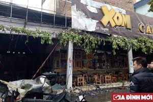 Hà Nội: Hiện trường quán ăn, cafe bị thiêu rụi sau vụ cháy dữ dội tại Nguyễn Văn Huyên