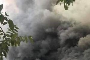 Hình ảnh quán Cafe bị cháy tan tành trên phố ở Hà Nội