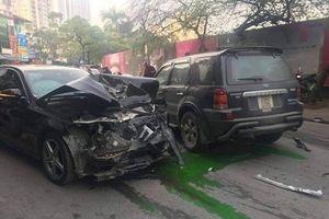 Xe điên đâm hàng loạt phương tiện trên phố Ngọc Khánh, 1 người tử vong