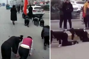Công ty TQ gây 'bão' vì bắt nhân viên bò ngoài đường
