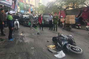 Hà Nội: Xe điên đâm nhiều phương tiện trên phố, 1 người tử vong tại chỗ