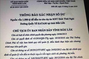 Điều tra việc giả mạo văn bản của Chủ tịch UBND tỉnh Đắk Lắk