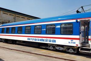 Đường sắt Sài Gòn tiếp nhận 10 toa xe mới chống cháy