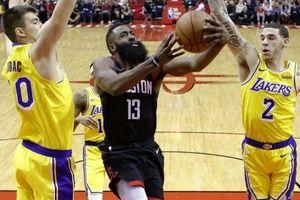 James Harden cùng Eric Gordon gồng gánh Rockets, Lakers thua đau mặc dù dẫn trước 21 điểm