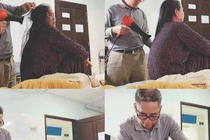 Tình vợ chồng 38 năm không cãi nhau sau bức ảnh người đàn ông sấy tóc cho vợ