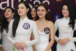 Bạn gái Trọng Đại U23 gây chú ý ở vòng sơ khảo Hoa hậu Bản sắc Việt