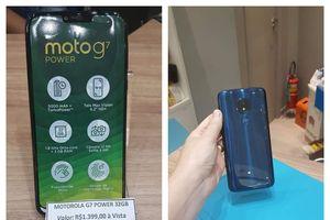Ảnh thực tế Moto G7 Power: Màn hình tai thỏ, pin 5000mAh, giá 370 USD