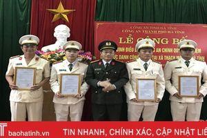 Điều động 4 cán bộ công an chính quy về công tác tại xã Thạch Môn