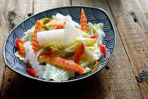 Có 1 cách làm rau củ trộn chua cay tuyệt ngon