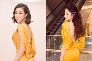 Đỗ Mỹ Linh - Hương Giang khiến fan 'xoắn não' vì màn đụng độ lưng trần tuyệt đẹp