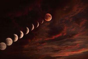 Siêu trăng máu xuất hiện ở Bắc bán cầu