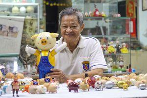 Bộ linh vật xuân Kỷ Hợi độc đáo bằng vỏ trứng của thầy giáo Sài Gòn