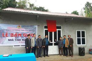 LĐLĐ tỉnh Thái Nguyên trao 5 nhà tình nghĩa cho người lao động nghèo