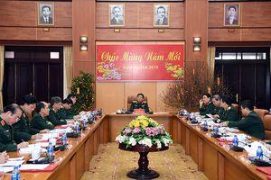 Đại tướng Ngô Xuân Lịch làm việc với Tổng cục Chính trị