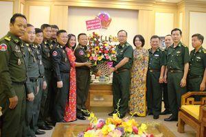 Bộ Tư lệnh Lục quân Campuchia thăm, chúc tết Bộ Tư lệnh BĐBP