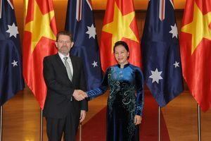 Chủ tịch Quốc Hội Nguyễn Thị Kim Ngân hội đàm với Chủ tịch Thượng viện Australia
