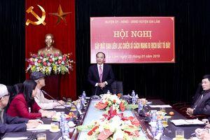 Huyện Gia Lâm gặp mặt Ban liên lạc chiến sĩ cách mạng bị địch bắt tù đày