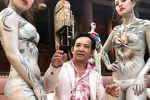 Quang Tèo và mẫu nude body paiting gây phản cảm trong hài Tết: Sự thật ngã ngửa