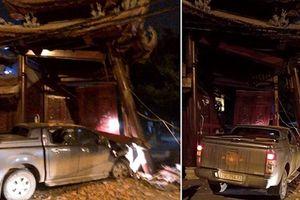 Tài xế say xỉn húc đổ cổng chùa tại Hà Nội
