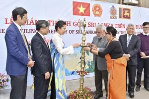 Khánh thành tranh gốm Sri Lanka trên 'Con đường gốm sứ'