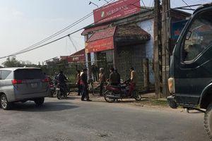 Truy bắt nghi phạm cầm dao vào cướp ngân hàng ở Thái Bình