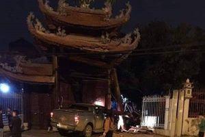 Hà Nội: Xác định danh tính tài xế húc đổ cổng chùa trong đêm